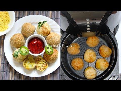 Aloo Matar Bread Bonda Video Recipe Air Fryer Cheesy Potato Stuffed Bread Balls Bhavna's Kitchen