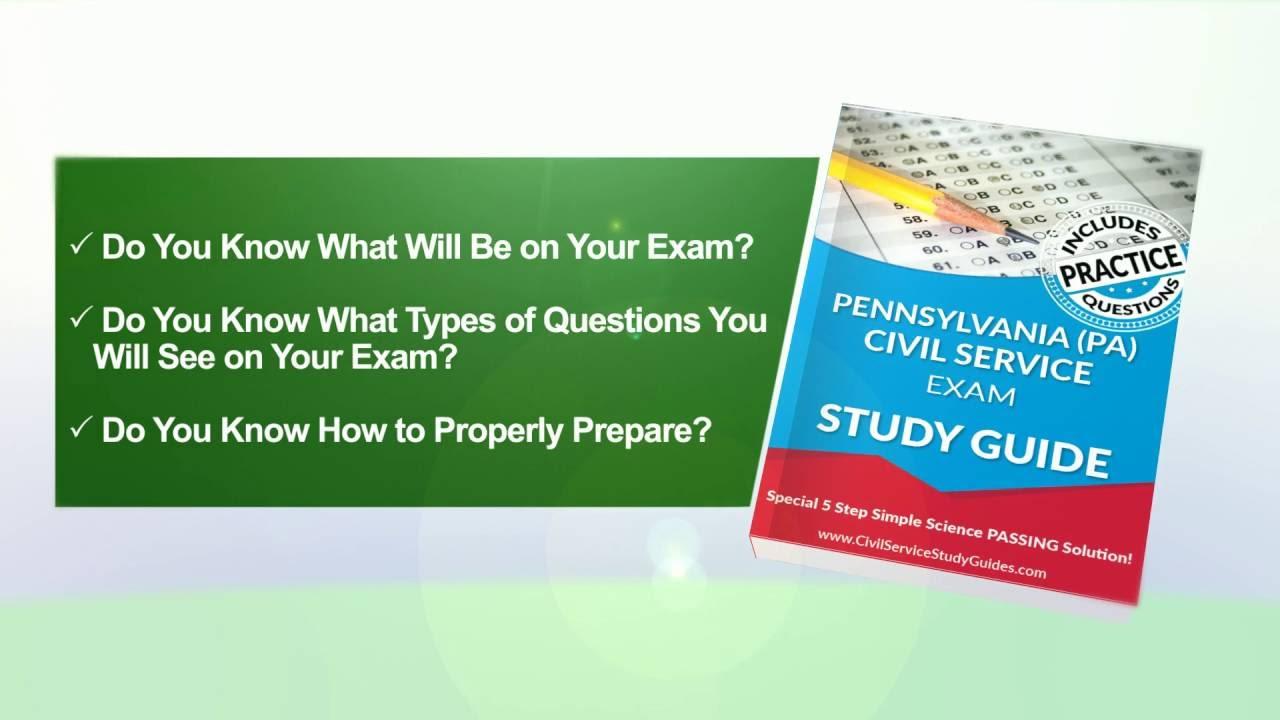 pennsylvania exam civil service test study guide youtube rh youtube com Civil Service Test Arco Study Guides