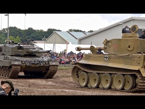 Tiger 1 Tank meets Leopard 2 'Head On'  - Tankfest 2016
