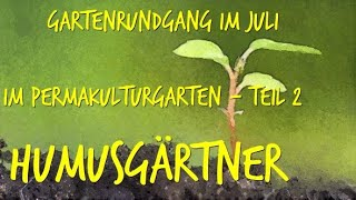 Gartenrundgang im Permakulturgarten zur Selbstversorgung Juli Teil2