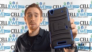 Phone Accessory Review: ZTE Max Armor Cases with Combo Holster and Kickstand - CellJewel.com