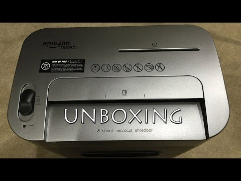 AmazonBasics 8-Sheet High-Security Micro-Cut Shredder Unboxing in 4K
