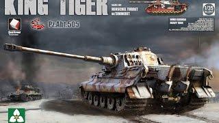 Building the New 1/35 Takom King Tiger with full interior part 1 Henschel zimmerit