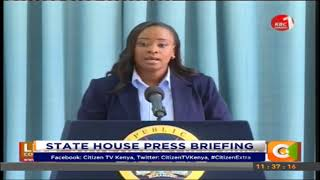 Kanze Dena`s first state house press briefing #CitizenExtra