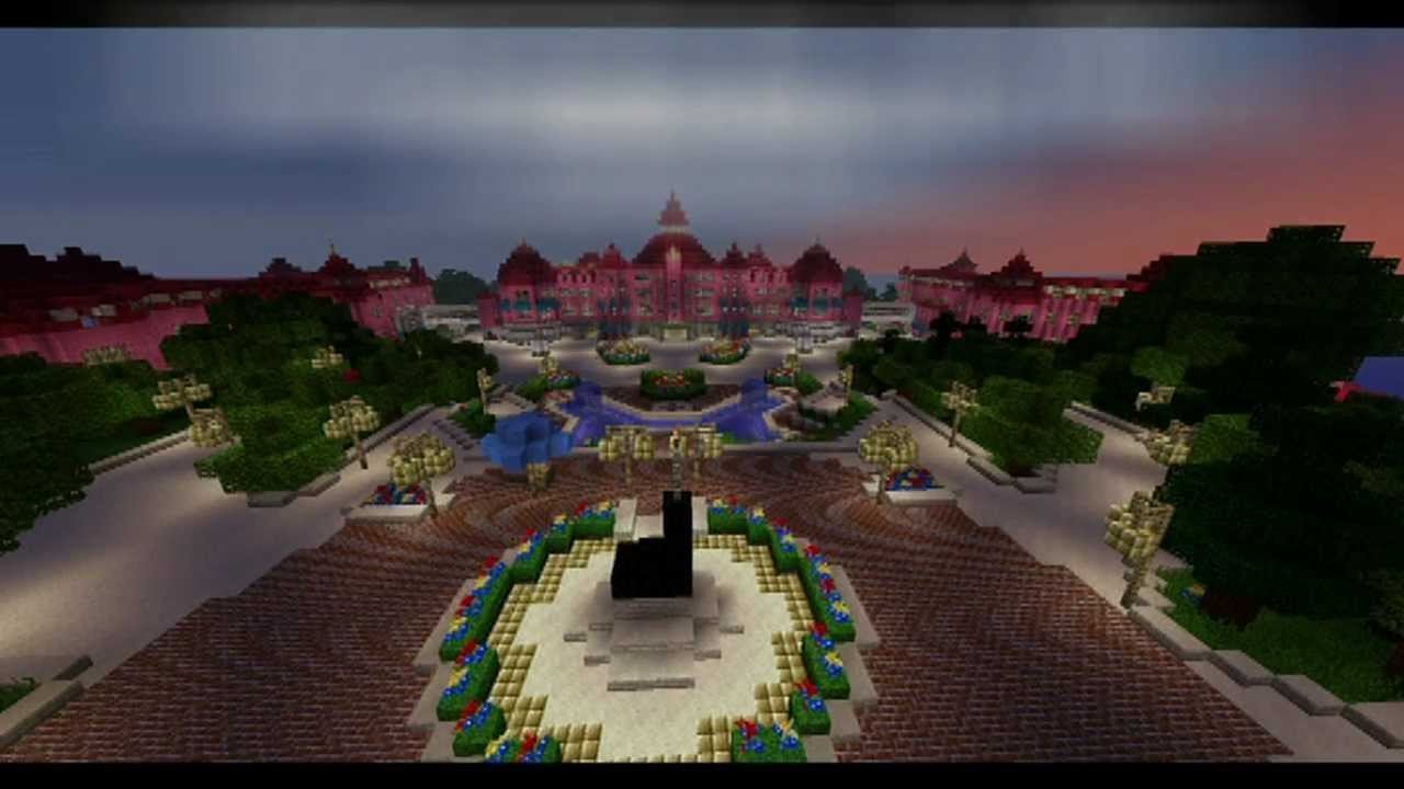 Disneycraft Construction De L 39 H Tel Disneyland Youtube