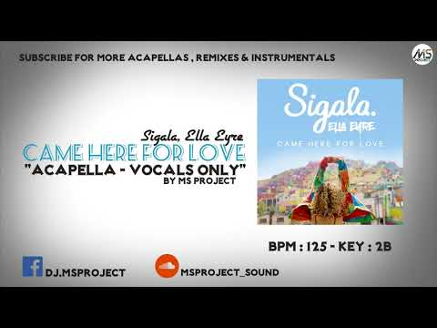 Sigala, Ella Eyre - Came Here for Love (Acapella - Vocals