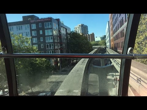 Front Seat Ride on the Seattle Monorail from the Space Needle to Westlake Center