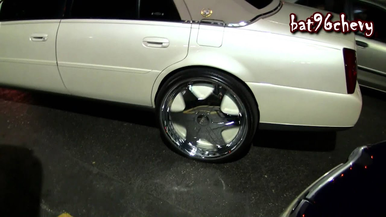 Pearl White Cadillac Deville On 26 Quot Dub Trumps Spinners