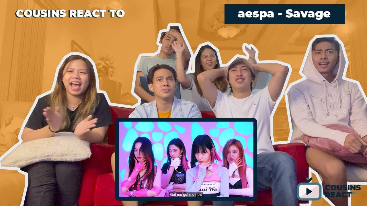 Download COUSINS REACT TO aespa 에스파 'Savage' MV