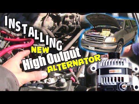 1st Step to LOUD Car Audio / INSTALLING Mechman High Output Alternator & How Install BIG 3 UPGRADE