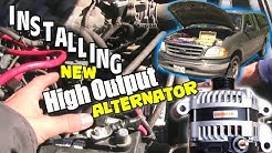 1st Step to LOUD Car Audio / INSTALLING Mechman High Output Alternator & How Install BIG 3 UPGRADE