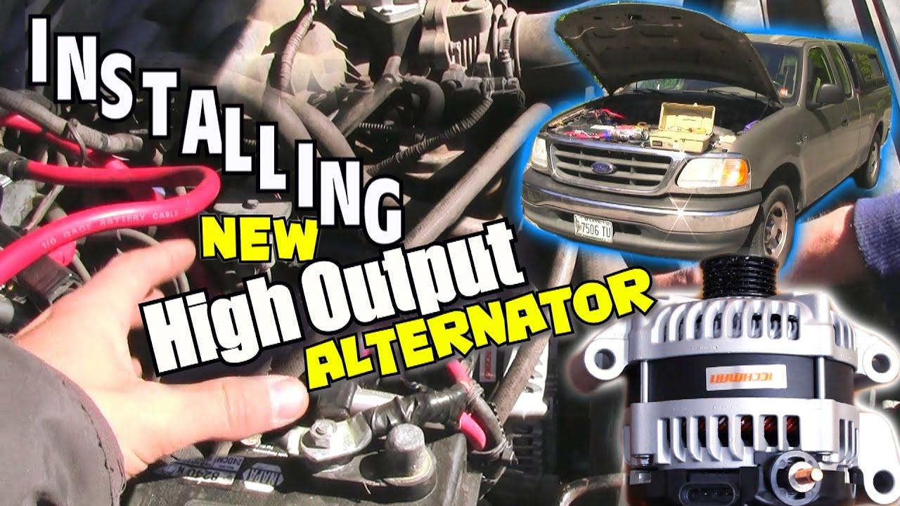 1st step to loud car audio installing mechman high output alternator how install big 3 upgrade youtube [ 1920 x 1080 Pixel ]