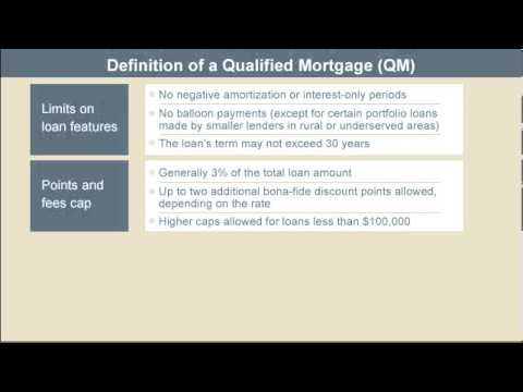 Definition of a Qualified Mortgage (QM) - According to CFPB
