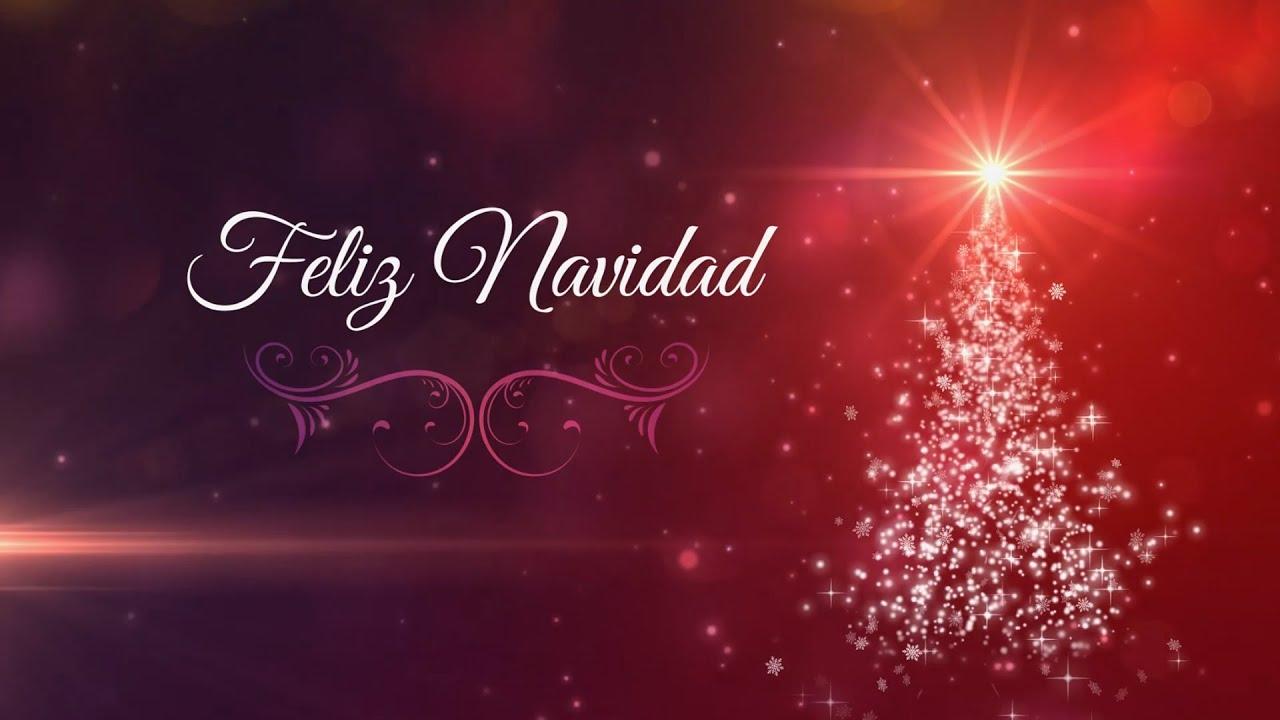 Feliz Navidad Felicitacion Motion Graphics Background Loop