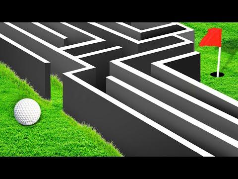 EXTREME GOLF MAZE CHALLENGE! (Golf It)