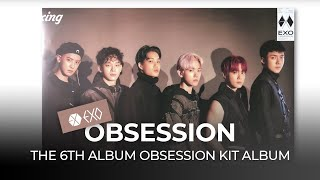 "Baixar Unboxing EXO ""OBSESSION"" the 6th album OBSESSION Kit album, 엑소 옵세션 킷앨범 언박싱 Kpop Ktown4u"