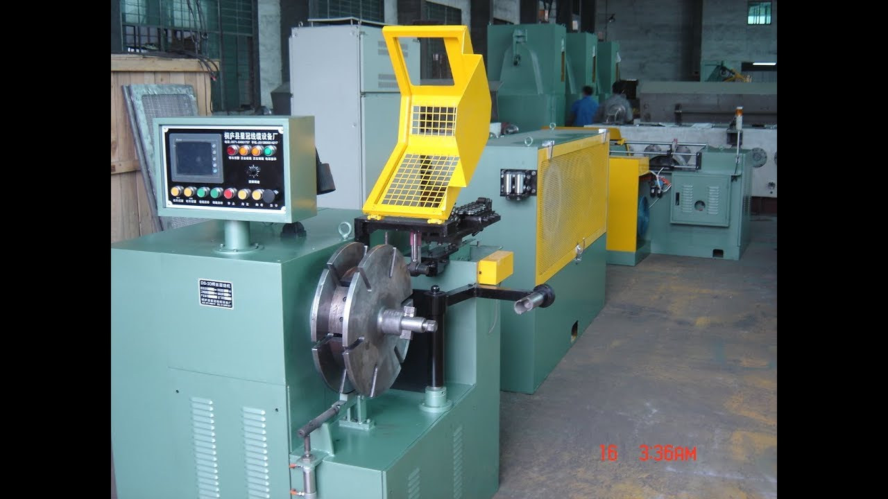 Wire layer winder, re-spooling machine for welding wire - YouTube