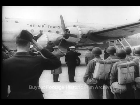 Historic Archival Stock Footage - General Marshall Arrives in China