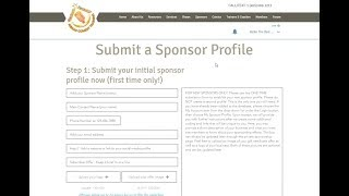 ACT - How to Create a Sponsor Profile