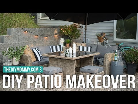 DIY BACK PATIO MAKEOVER | Vlogust Day 9