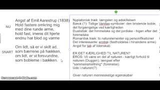 Video analyse - Angst af Emil Aarestrup
