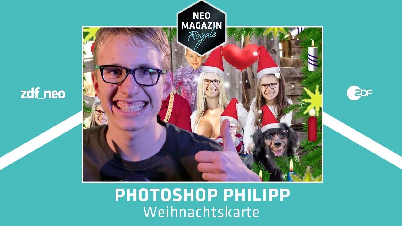 Photoshop philipp und die weihnachtskarte neo magazin - Interaktive weihnachtskarte ...