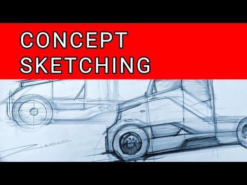 Car Design SPEED SKETCHING - Electric EV Semi-Truck Concept