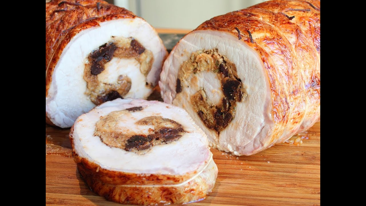 How To Stuff A Pork Loin  Rolled Stuffed Pork Loin Roast Wrapped In Caul  Fat  Youtube