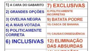 AS 13 TÉCNICAS DE CHUTE PARA CONCURSOS VESTIBULARES E ENEM (VERSÃO 2012)