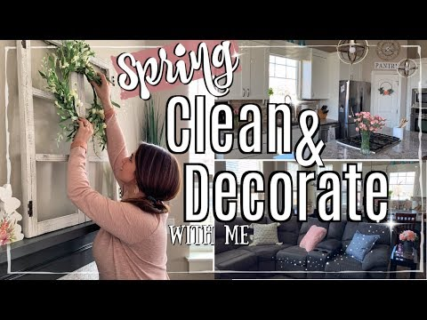 CLEAN WITH ME 2019 :: SPRING CLEAN & DECORATE :: SPEED CLEANING MOTIVATION & SPRING DECORATING IDEAS