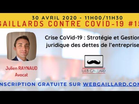 Web Gaillard #15 - Crise CoVid-19: Stratégie et Gestion juridique des dettes de l'entreprise