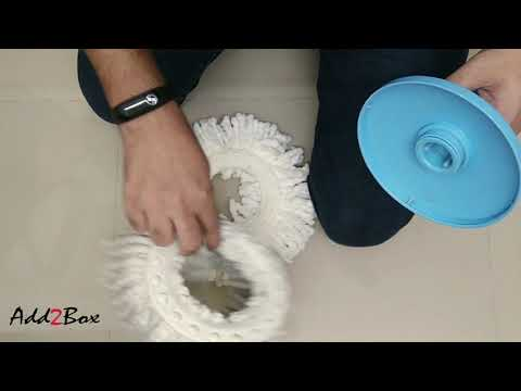 How To Change Spin Mop Fiber Head   For Any Spinmop   HINDI