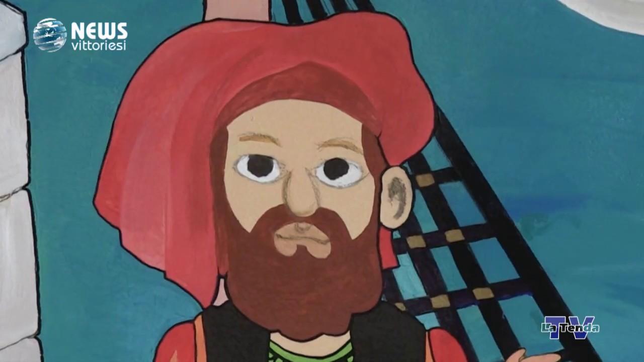 News vittoriesi - Un nuovo murales alla scuola dell'infanzia Marco Polo