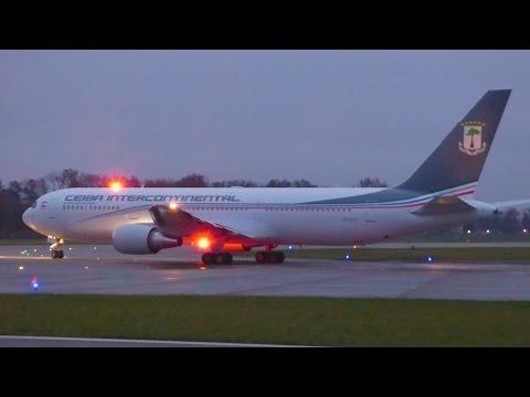[FullHD] RARE!! Ceiba Intercontinental Boeing 767-300(ER) landing & takeoff at Geneva/GVA/LSGG