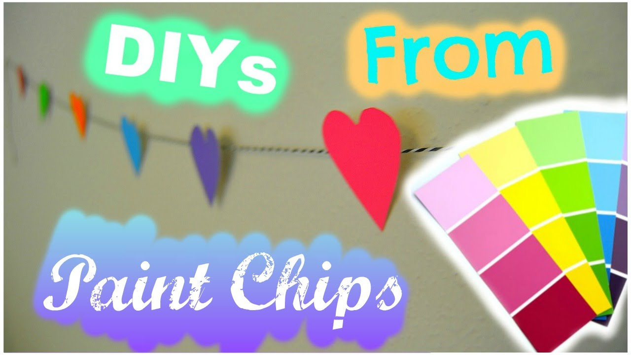 Diys You Can Do From Paint Chips