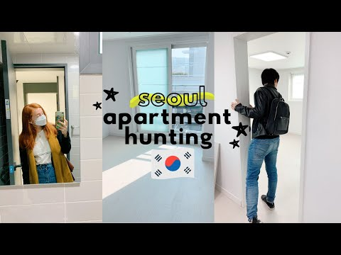 Apartment Hunting in Seoul, Korea VLOG | seoul apartment tou