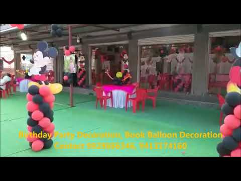 birthday-party-decoration,book-balloon-decoration-contact-9928686346