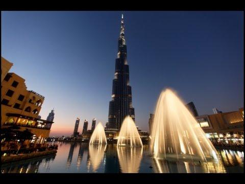 360 video Dubai dancing fountain