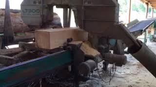 Cutting Old Southern Yellow Pine Rough Sawn Lumber