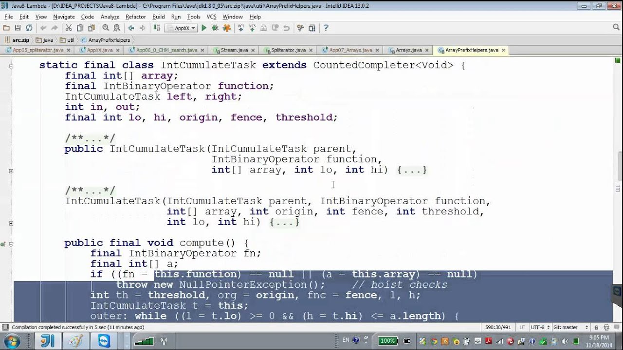 GolovachCourses: Java Multithreading 18 11 2014 Lecture #15-2  Fork/Join   Recursion parallels