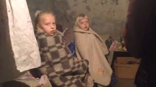 Ukraine War - Life in a bomb shelter of Donetsk Ukraine