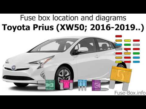 fuse box location and diagrams toyota prius xw50 2016. Black Bedroom Furniture Sets. Home Design Ideas