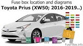 Fuse Box Location And Diagrams Toyota Prius C 2012 2017 Youtube