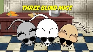 Three Blind Mice (instrumental nursery rhyme - lyrics video for karaoke)