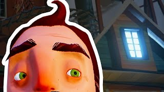 ROOFTOP PARKOUR ADVENTURE! - Hello Neighbor (Alpha 3) - Attic Secret