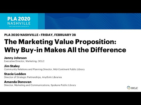 PLA 2020 - The Marketing Value Proposition: Why Buy-in Makes All The Difference