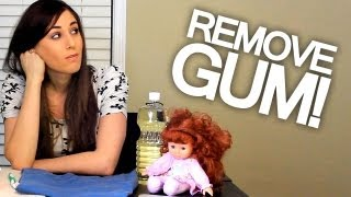 How To Remove Gum - From Hair, Clothing, Carpet and Upholstery (Easy Cleaning Ideas) Clean My Space(Watch more Clean My Space videos here! http://bit.ly/CleanMySpaceYT Join the CleanMySpace.com Community! http://bit.ly/JoinOurSpace6 The BEST video for ..., 2012-02-17T16:34:40.000Z)