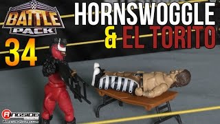 WWE FIGURE INSIDER: Hornswoggle & El Torito- WWE Battle Packs 34 wrestling figures (WeeLC)