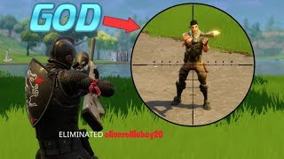 FORTNITE SNIPING GOD..