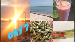 DAY 7/ Что я ем/ Еда вне дома/ Макароны песто/ Пляж
